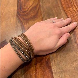 Jewelry - Boho Sparkle Wrap Leather Bracelet